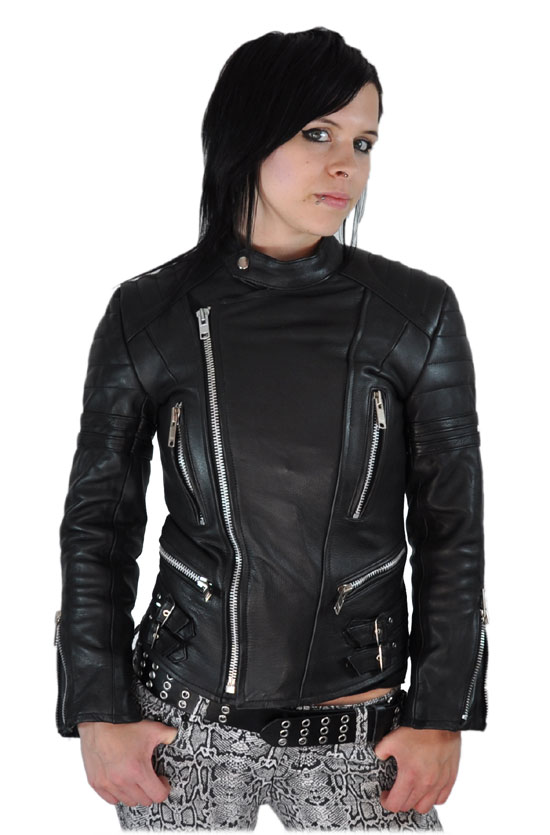 neu damen retro lederjacke motorradjacke jacke s xxl ebay. Black Bedroom Furniture Sets. Home Design Ideas