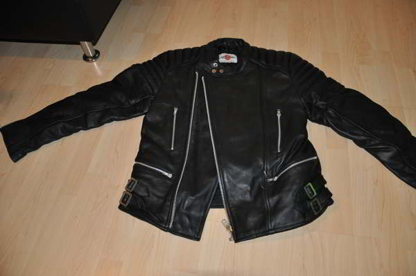 lederjacke leder motorradjacke m schwarz retro oldschool ebay. Black Bedroom Furniture Sets. Home Design Ideas