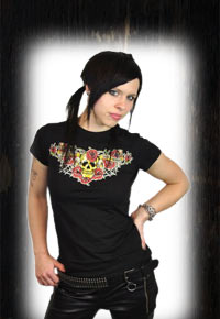 "Lucky 13 Girlie T-Shirt ""Forever true"""