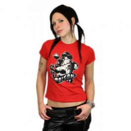 "Lucky 13 Girlie T-Shirt ""Poison"" red"