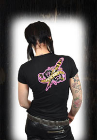 "Lucky 13 Girlie T-Shirt ""Hard Luck"" Front"